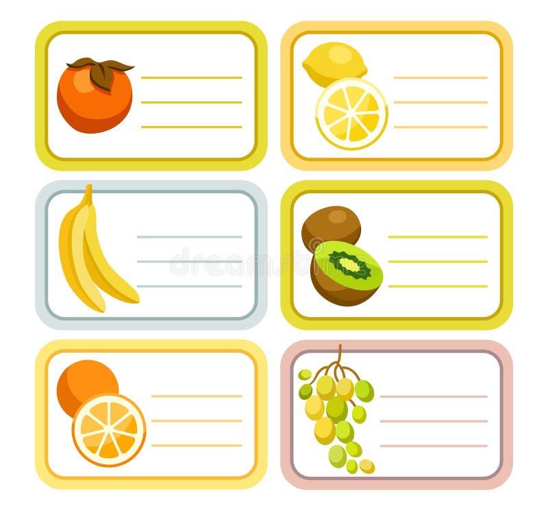 Ετικέτες φρούτων απεικόνιση αποθεμάτων