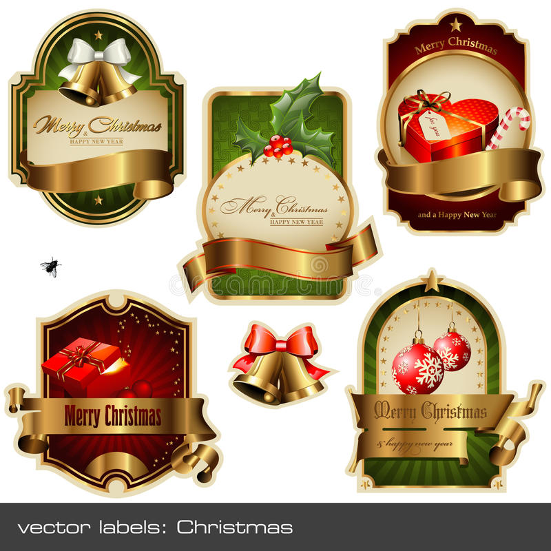 ετικέτες Χριστουγέννων π& διανυσματική απεικόνιση