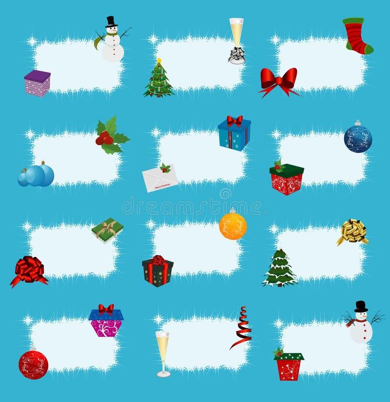 ετικέτες Χριστουγέννων διανυσματική απεικόνιση