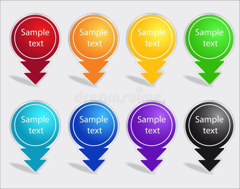 ετικέτες χρώματος που τί&thet διανυσματική απεικόνιση