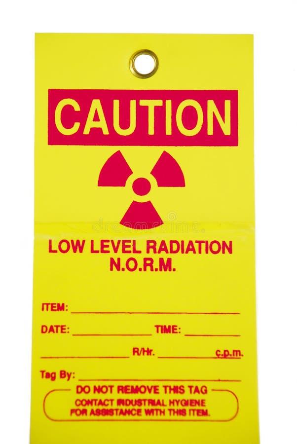 ετικέττα ακτινοβολίας στοκ εικόνες