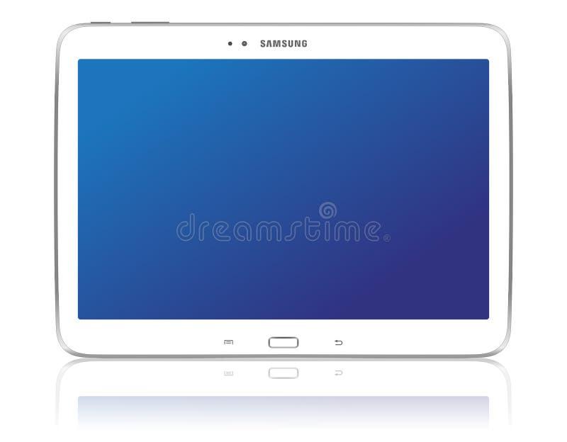 Ετικέττα 3 10.1 γαλαξιών της Samsung διανυσματική απεικόνιση