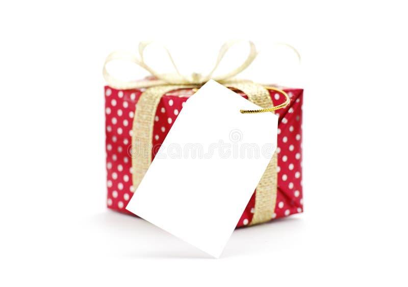 ετικέττα δώρων κιβωτίων στοκ φωτογραφία με δικαίωμα ελεύθερης χρήσης