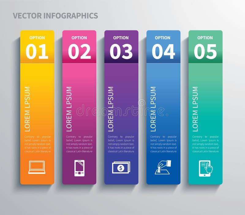 Ετικέττα εγγράφου infographic απεικόνιση αποθεμάτων