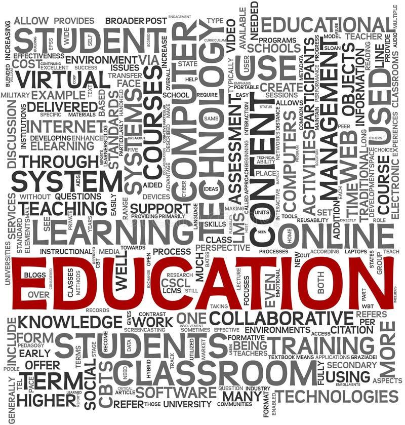 ετικέττα εκπαίδευσης ένν& διανυσματική απεικόνιση