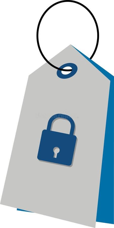 ετικέττα κλειδωμάτων απεικόνιση αποθεμάτων