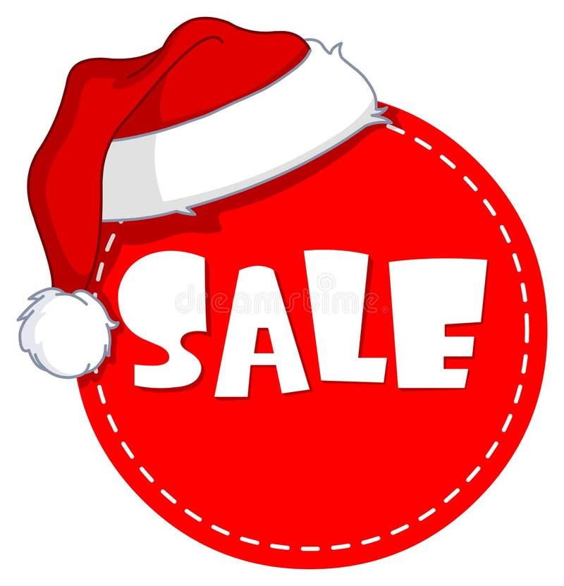 Ετικέττα πώλησης Χριστουγέννων διανυσματική απεικόνιση