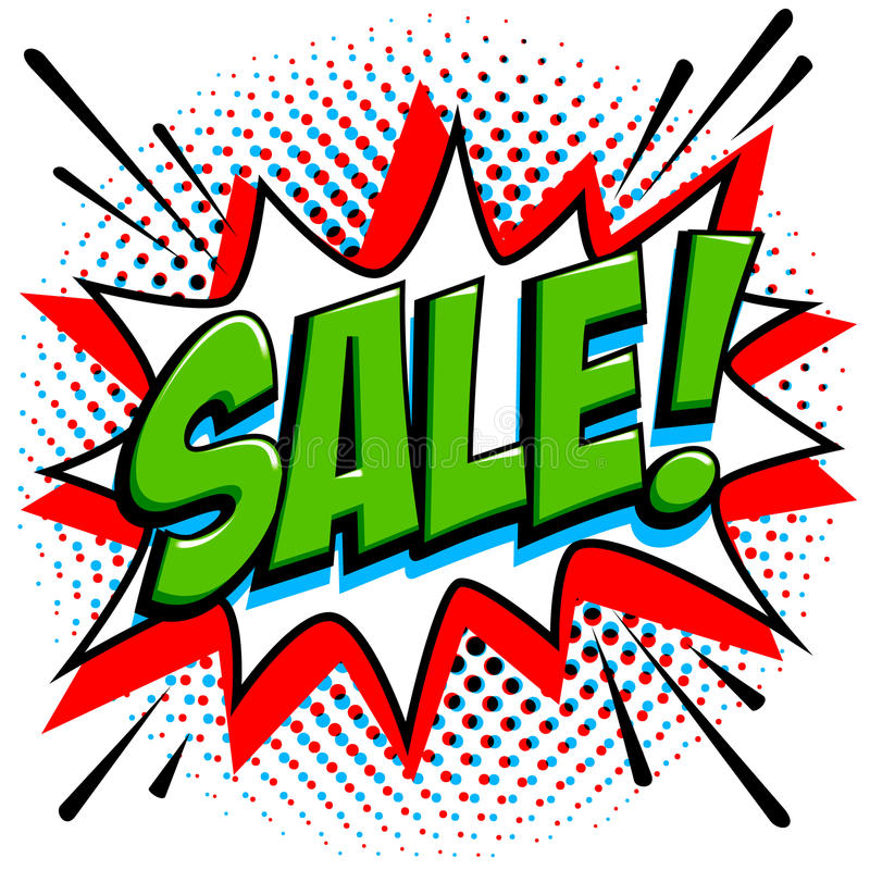 Ετικέττα πώλησης ύφους Comics Πράσινο έμβλημα Ιστού πώλησης Λαϊκό έμβλημα προώθησης έκπτωσης πώλησης τέχνης κωμικό μεγάλη πώληση  ελεύθερη απεικόνιση δικαιώματος