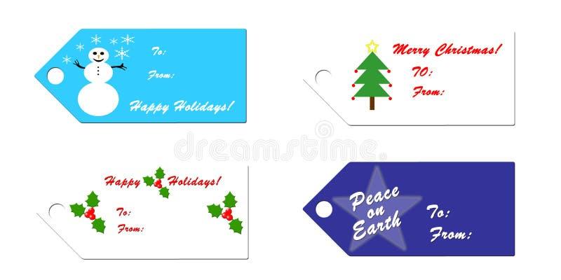 ετικέττες δώρων Χριστου&ga απεικόνιση αποθεμάτων