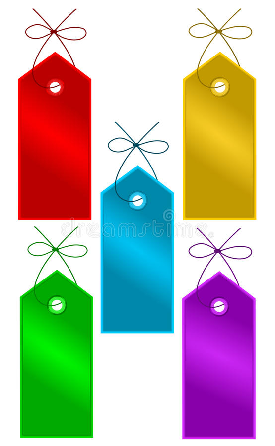 ετικέττες δώρων ελεύθερη απεικόνιση δικαιώματος