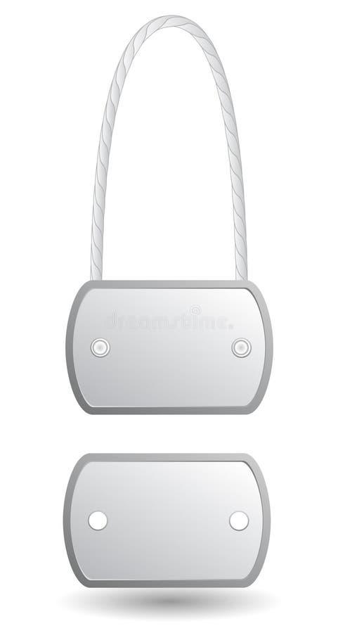 Ετικέττες μετάλλων ταυτότητας διανυσματική απεικόνιση