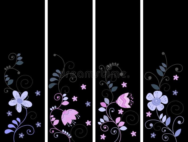 Ετικέττες με τα λουλούδια απεικόνιση αποθεμάτων
