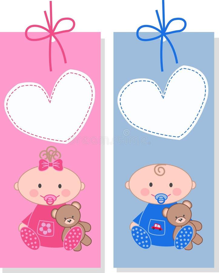 ετικέττες μωρών απεικόνιση αποθεμάτων