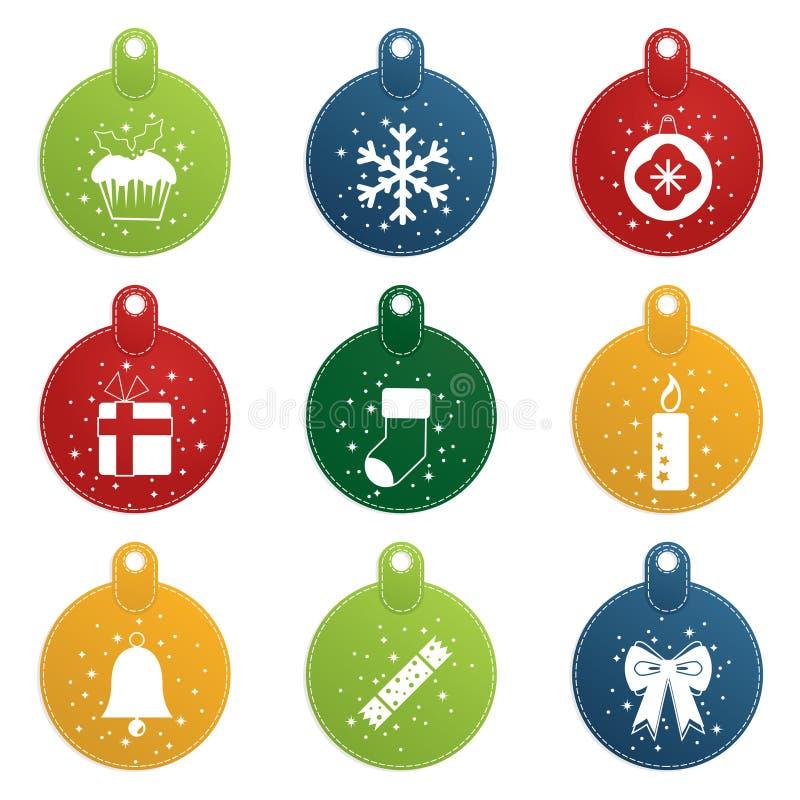 ετικέττες Χριστουγέννων απεικόνιση αποθεμάτων