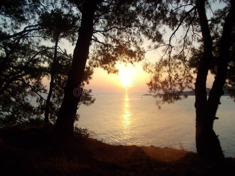 Ευγενές ηλιοβασίλεμα στοκ φωτογραφίες με δικαίωμα ελεύθερης χρήσης