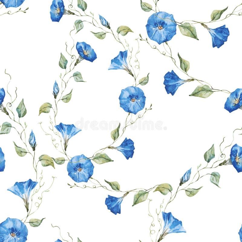 Ευγενές floral σχέδιο watercolor ελεύθερη απεικόνιση δικαιώματος