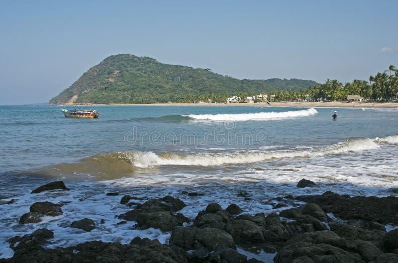 Ευγενής κυματωγή που κυλά στην παραλία στοκ εικόνες