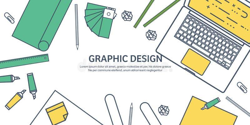 Ευθυγραμμισμένος, επίπεδο γραφικό σχέδιο Ιστού ouline Σχεδιασμός και ζωγραφική ανάπτυξη Απεικόνιση και σκιαγράφηση, ανεξάρτητες χ διανυσματική απεικόνιση