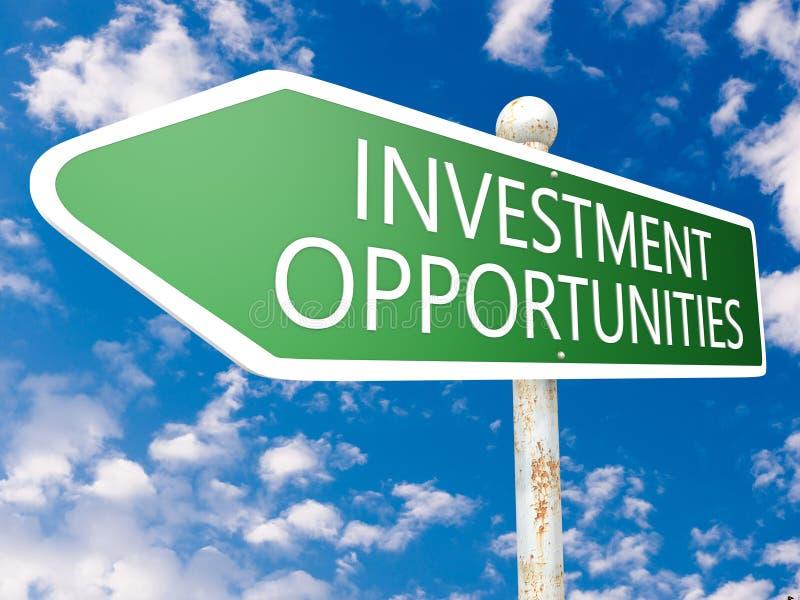 Ευκαιρίες επένδυσης στοκ εικόνα με δικαίωμα ελεύθερης χρήσης