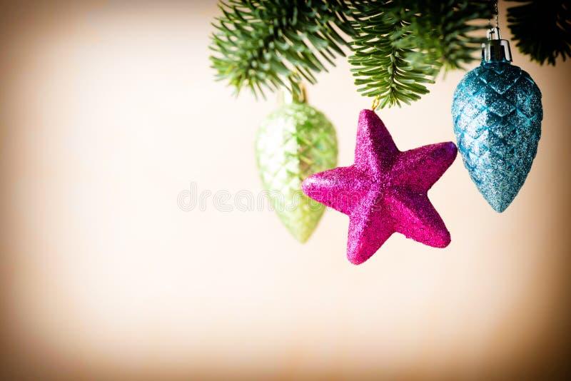λευκό απομόνωσης ντεκόρ Χριστουγέννων στοκ φωτογραφίες με δικαίωμα ελεύθερης χρήσης
