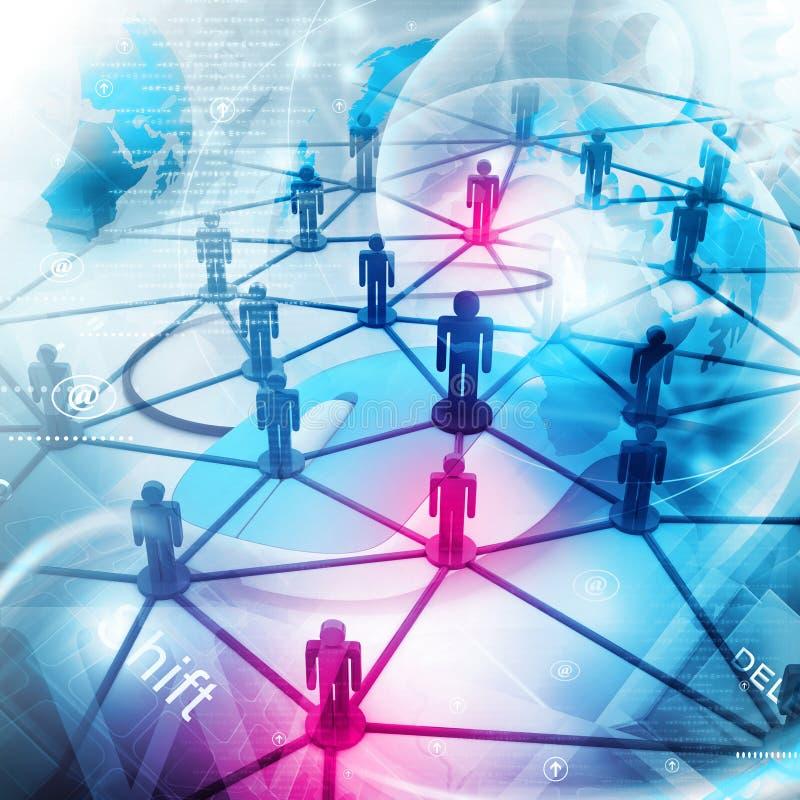 λευκό επιχειρησιακών δικτύων ανασκόπησης απεικόνιση αποθεμάτων