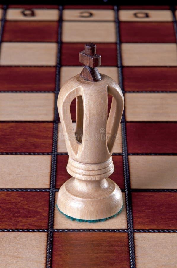 λευκό κομματιού βασιλιά& στοκ εικόνες