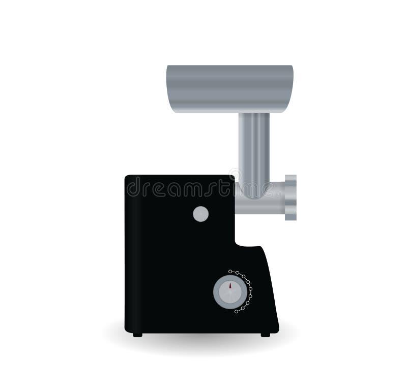 λευκό κουζινών απεικόνισης ανασκόπησης συσκευών Μπαλτάς κρέατος Διανυσματικό illustraion διανυσματική απεικόνιση