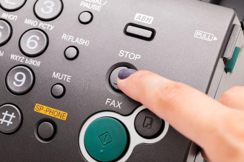 λευκό μηχανών απεικόνισης fax ανασκόπησης στοκ φωτογραφία με δικαίωμα ελεύθερης χρήσης