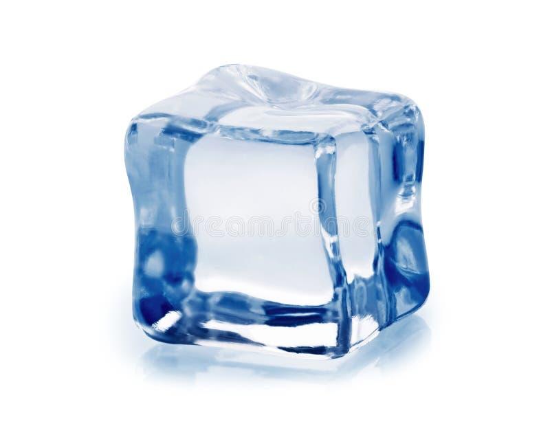 λευκό πάγου κύβων ανασκόπησης στοκ εικόνες