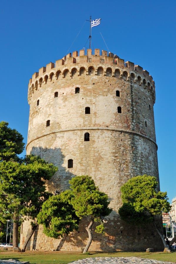 λευκό πύργων Θεσσαλονίκ στοκ εικόνα με δικαίωμα ελεύθερης χρήσης