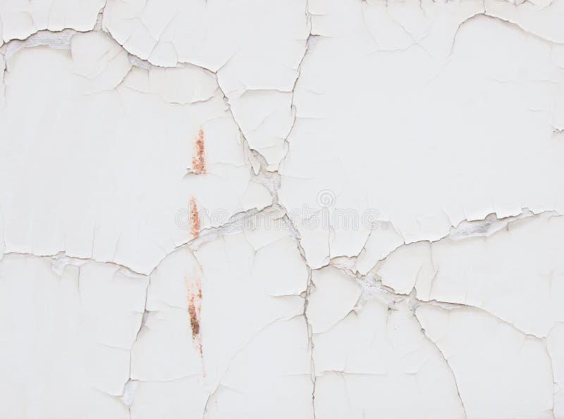 λευκό τοίχων ρωγμών στοκ εικόνες με δικαίωμα ελεύθερης χρήσης