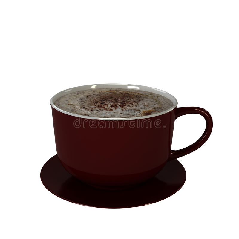 λευκό φλυτζανιών καφέ στοκ φωτογραφία