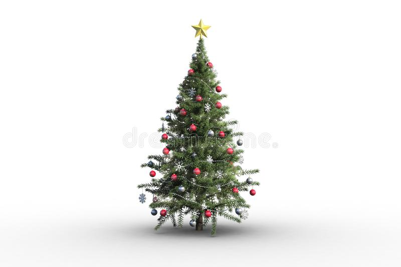 λευκό χριστουγεννιάτικων δέντρων ανασκόπησης απεικόνιση αποθεμάτων