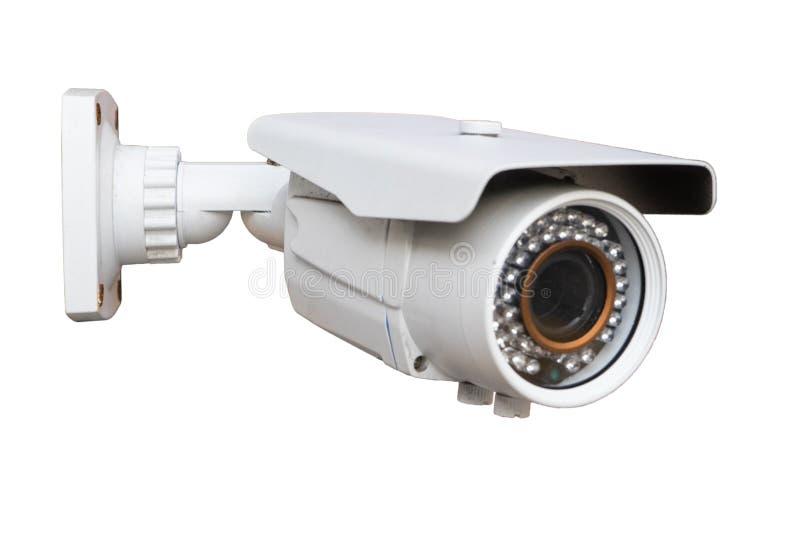λευκό CCTV φωτογραφικών μηχανών ανασκόπησης στοκ εικόνα με δικαίωμα ελεύθερης χρήσης