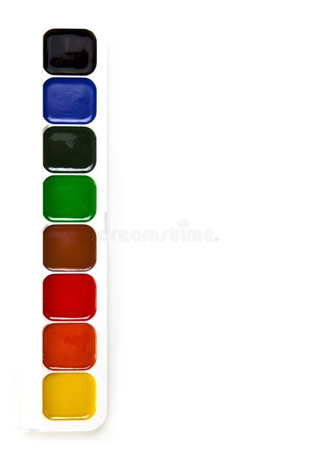 λευκό watercolor χρωμάτων ανασκόπη&si στοκ εικόνα