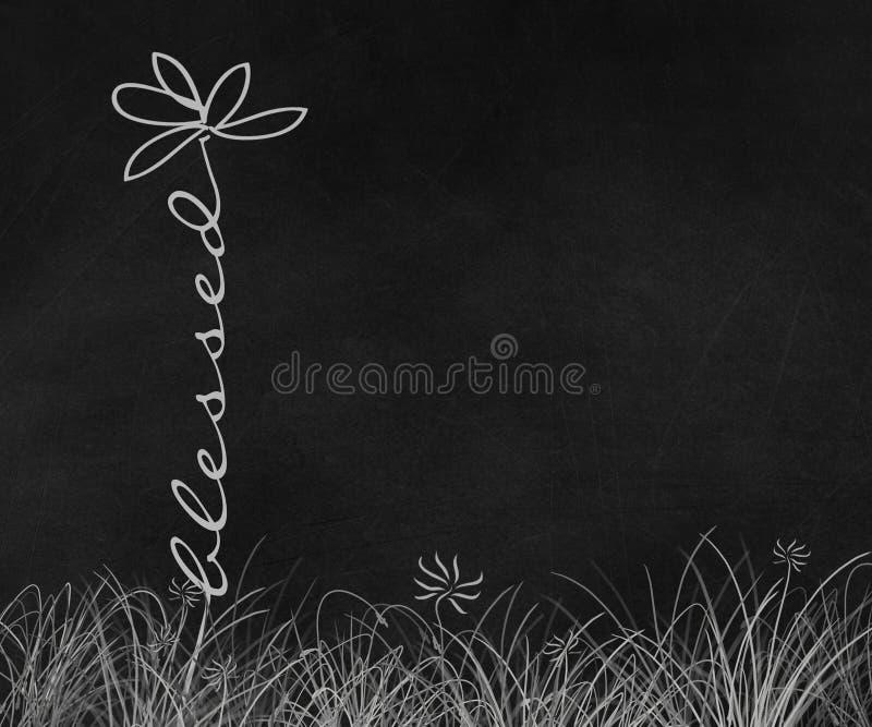 Ευλογημένος μίσχος μαργαριτών κειμένων στον πίνακα κιμωλίας ελεύθερη απεικόνιση δικαιώματος