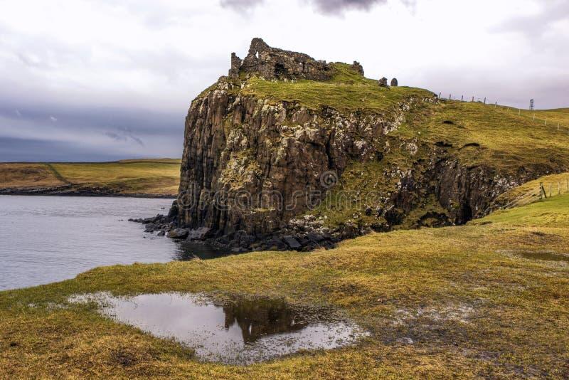 Ευμετάβλητος πυροβολισμός Duntulm Castle στη Skye στοκ φωτογραφίες με δικαίωμα ελεύθερης χρήσης