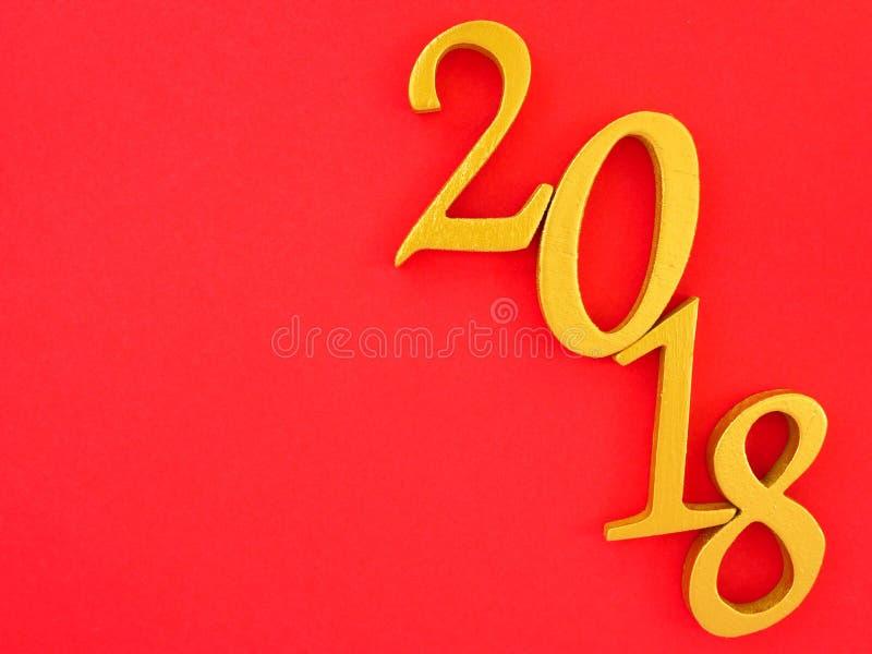 ευνοϊκό νέο έτος 2018 στοκ εικόνα