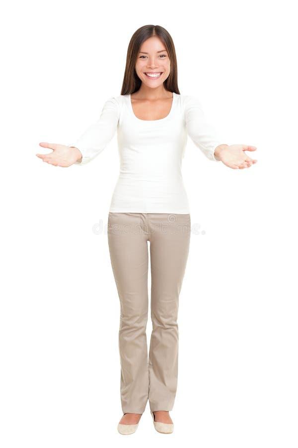 Ευπρόσδεκτος χαιρετισμός γυναικών στοκ εικόνα
