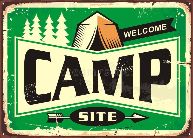 Ευπρόσδεκτο σημάδι περιοχών στρατόπεδων ελεύθερη απεικόνιση δικαιώματος