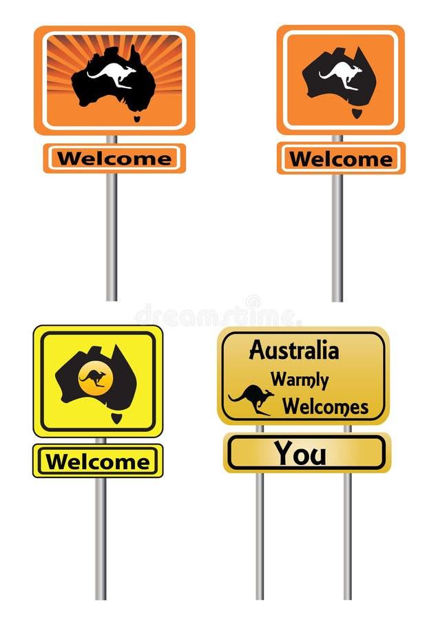 Ευπρόσδεκτα σημάδια της Αυστραλίας ελεύθερη απεικόνιση δικαιώματος