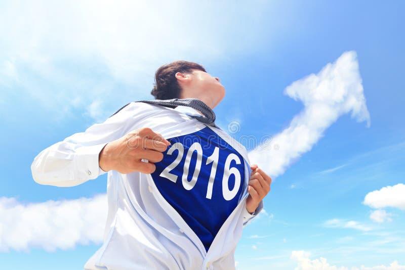 Ευπρόσδεκτη έννοια έτους του 2016 νέα στοκ εικόνα