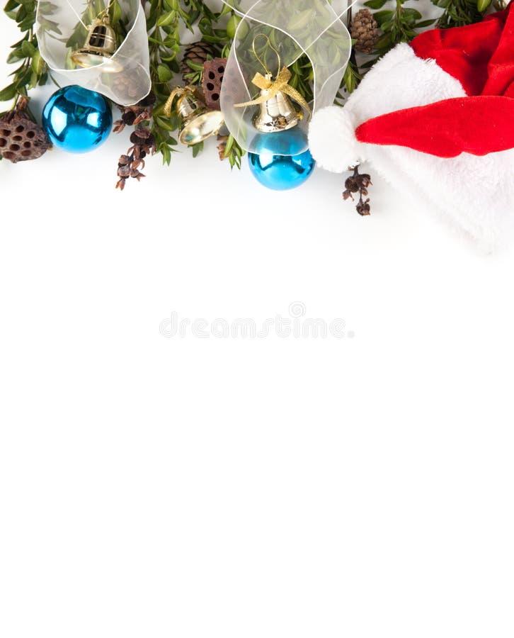 Ευρέα τοξωτά σύνορα Χριστουγέννων που απομονώνονται στο λευκό στοκ εικόνες