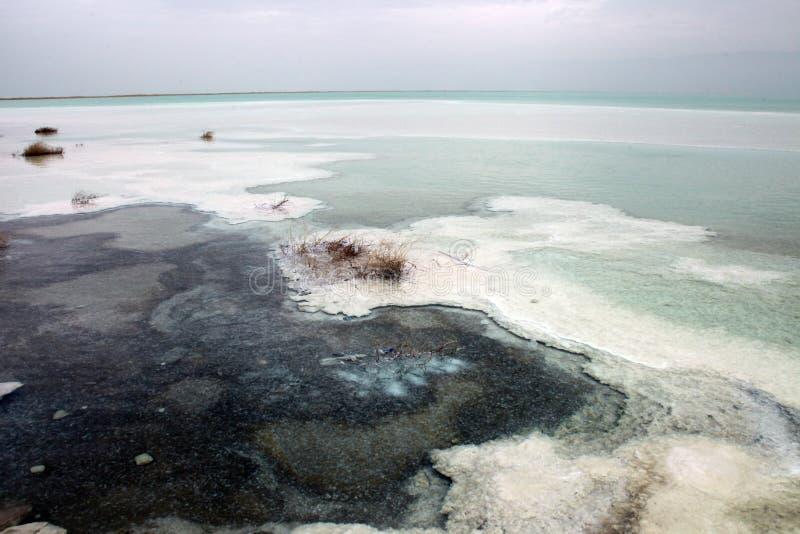 Ευρεία άποψη γωνίας της νεκρής θάλασσας στοκ φωτογραφία