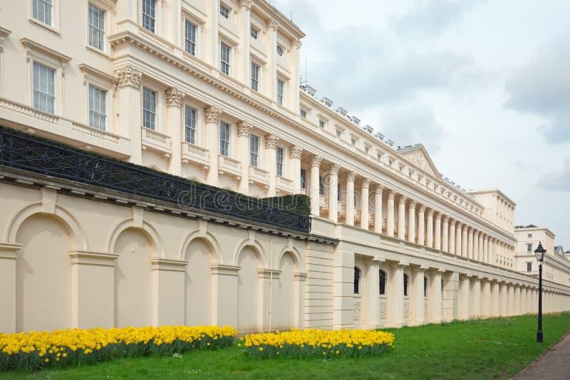 Ευρεία άποψη γωνίας του πεζουλιού σπιτιών του Carlton που βρίσκεται στη λεωφόρο στο Λονδίνο, το 2018 στοκ εικόνα με δικαίωμα ελεύθερης χρήσης