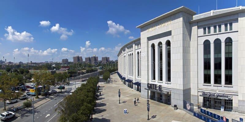 Ευρεία άποψη γωνίας του σταδίου Αμερικανού στο Bronx Νέα Υόρκη στοκ εικόνα με δικαίωμα ελεύθερης χρήσης