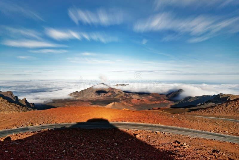 Ευρεία άποψη ηφαιστείων της Χαβάης Maui Haleakala στοκ εικόνα με δικαίωμα ελεύθερης χρήσης