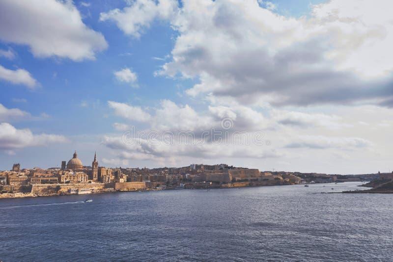 Ευρεία άποψη Λα Valletta στοκ εικόνα