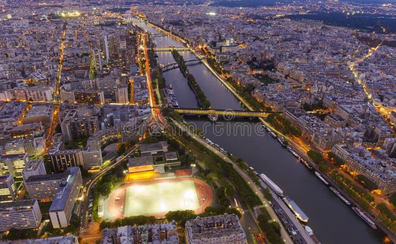 Ευρεία άποψη της πόλης του Παρισιού στοκ εικόνες