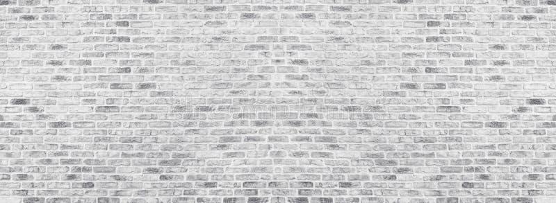 Ευρεία άσπρη σύσταση τουβλότοιχος Τραχιά ανοικτό γκρι πλινθοδομή Ασπρισμένο πανοραμικό εκλεκτής ποιότητας υπόβαθρο στοκ φωτογραφία με δικαίωμα ελεύθερης χρήσης